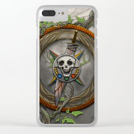 The Shattered Skull Clear iPhone Case