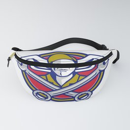 Crew Chief Crossed Wrench Army Wings Icon Fanny Pack