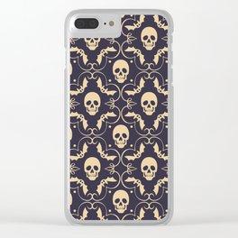 Happy halloween skull pattern Clear iPhone Case