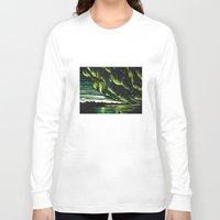 northern lights Long Sleeve T-shirts featuring Northern Lights  by Joey Bareither