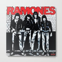 Ramones | Pop Art Metal Print