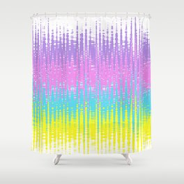 Rainbow wave Shower Curtain