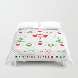 Pennywise Ugly Christmas Duvet Cover
