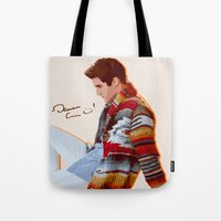 darren criss Tote Bags featuring Darren for Hero by byebyesally
