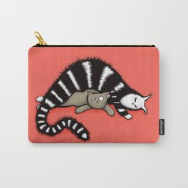 Cat Mother Protects Her Kitty Child Carry-All Pouch