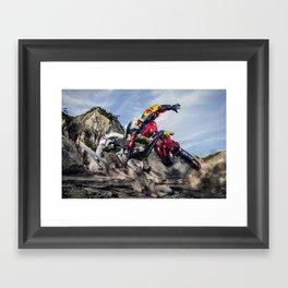 gurren battle Framed Art Print