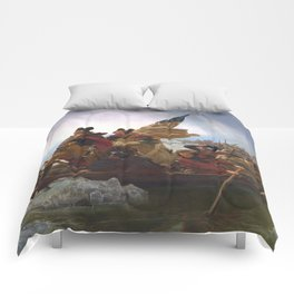 Washington Crossing the Delaware, by Emanuel Gottlieb Leutze Comforters