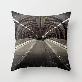 Calgary Peace Bridge Morning Commute Throw Pillow