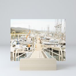 California Harbor Mini Art Print