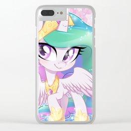 Little Princess Celestia Clear iPhone Case