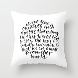 C.S LEWIS Throw Pillow