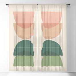 Sun Earth Balance Midcentury Sheer Curtain