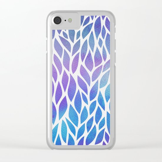 Petals Pattern #1 Clear iPhone Case