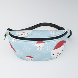 Snowmen and snowflakes Fanny Pack
