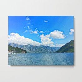 Ocean Side Mountains Metal Print