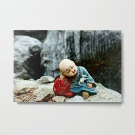 Mini Buddha Metal Print