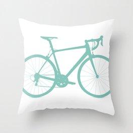 Blue bike Throw Pillow
