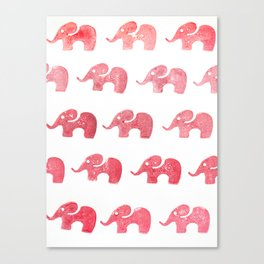 Elephant red Canvas Print