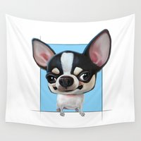 chihuahua Wall Tapestries featuring Chihuahua by joearc