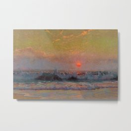 Last Sunset of Summer coastal landscape painting by Sydney Laurence Metal Print