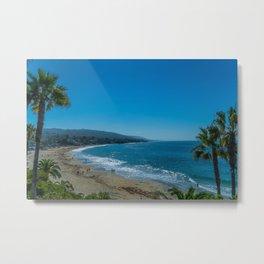 Sunny Laguna Main Beach Metal Print