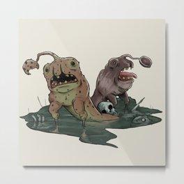 Cookie Monsters Metal Print
