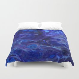 Blue Abyss Abtract Duvet Cover