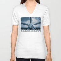 clear V-neck T-shirts featuring Clear Prop! by digital2real
