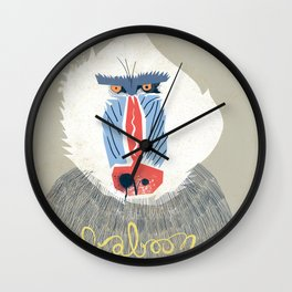 Baboon Wall Clock
