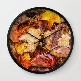 Fallen Autumn Leaves 11 Wall Clock
