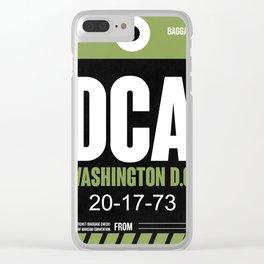DCA Washington Luggage Tag 2 Clear iPhone Case