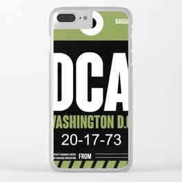 DCA Washington Luggage Tag 2 Clear iPhone Case