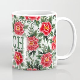Bitch - Vintage Floral Tattoo Collection Coffee Mug