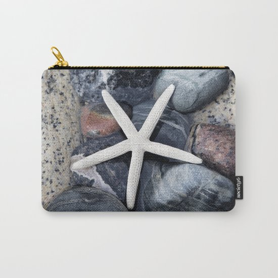Starfish and pebble on beach Carry-All Pouch