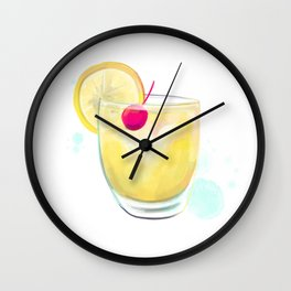 Whiskey Sour Cocktail Wall Clock