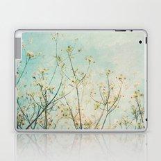 White Dogwood Tree Spring Flower Branches Painterly Laptop & iPad Skin