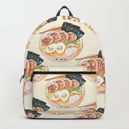 Ramen Pugs Watercolor Backpack