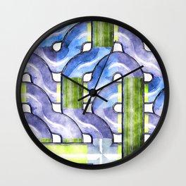Pipelines watercolor Wall Clock
