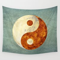 mars Wall Tapestries featuring Mars & Venus  by Klara Acel