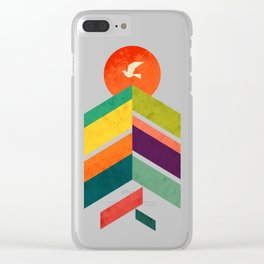 Lingering Mountains Clear iPhone Case