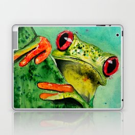 Watercolor Tree Frog Laptop & iPad Skin
