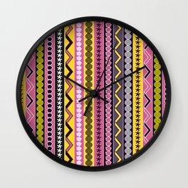 Fancy stripes Wall Clock