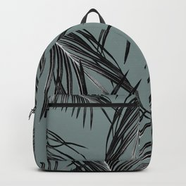 Black Palm Leaves Dream #4 #tropical #decor #art #society6 Backpack