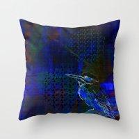 birdy Throw Pillows featuring Birdy by Nett Designs