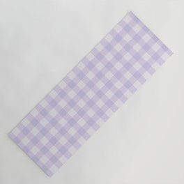 Gingham Pattern - Lilac Yoga Mat