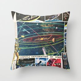 1959 Hammond's Guide To The Exploration of Space Wall Art Throw Pillow