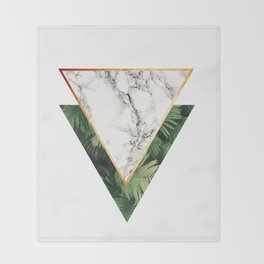 Geometric Tropical Marble Throw Blanket
