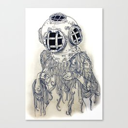 Ghost Diver Canvas Print