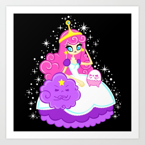 Princess Bubble Gum Art Print