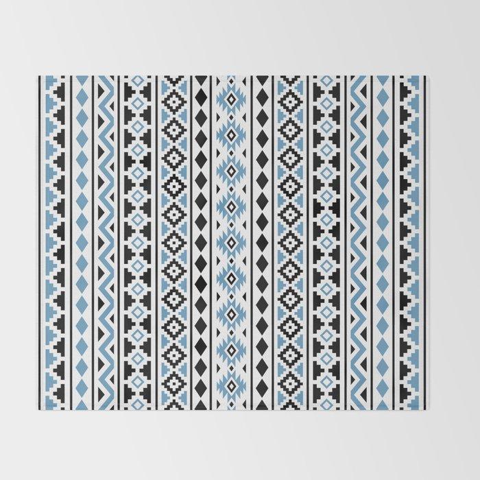 f0193c2dc Aztec Essence Pattern II Light Blue Black White Throw Blanket by ...
